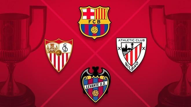 4 teams straight to round 16 in Copa del Rey