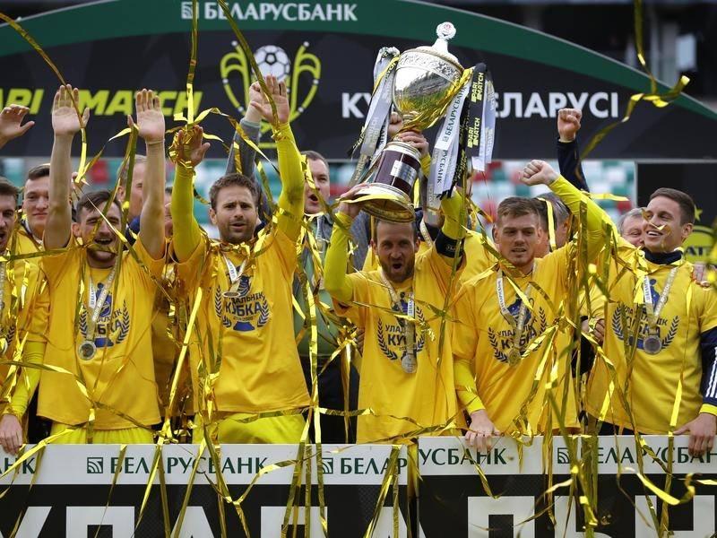 BATE celebrated Belarusian cup triumph