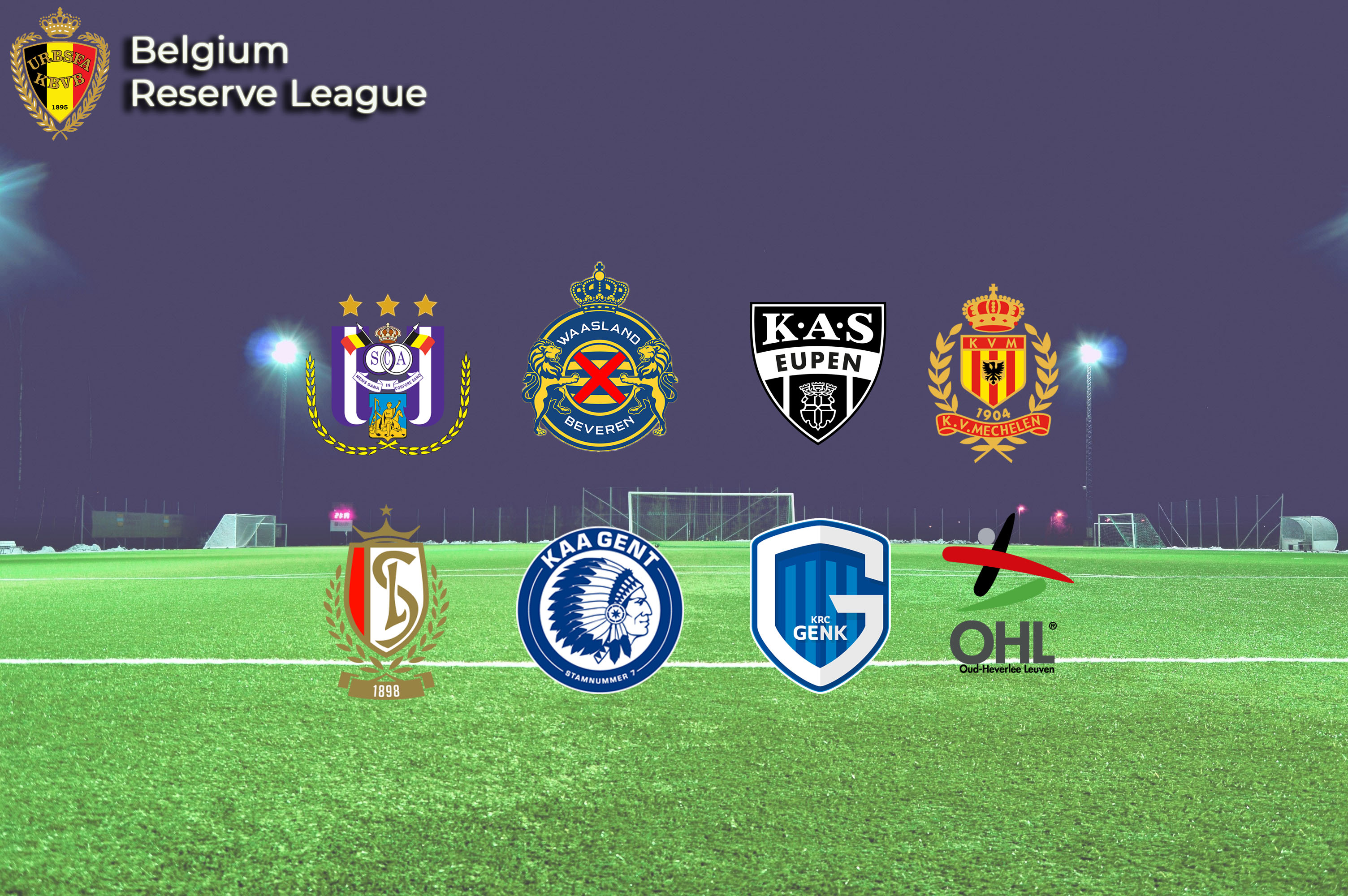 Belgium Reserve League participants
