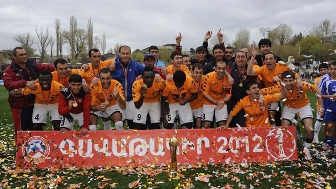 Shirak FC win the 2012 Armenian Premier League